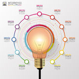 Light bulb with circle elements for infographic. Vector illustration Stock Image