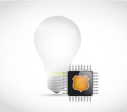 Light bulb and circuit illustration design Royalty Free Stock Photo