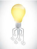 Light bulb circuit illustration design Stock Photography