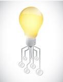 Light bulb circuit illustration design Stock Photography