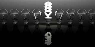 Light bulb clipart Royalty Free Stock Image