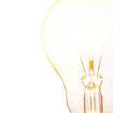 Light bulb. Close up glowing light bulb Stock Photos