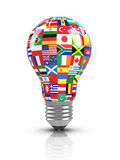 Light bulb - Collection of flags Stock Photos