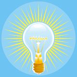 Light bulb color Stock Photography