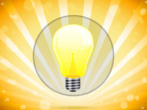 Light Bulb on Colorful Background Stock Image