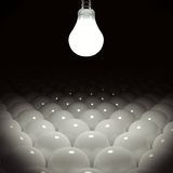 Light bulb concept Royalty Free Stock Photography