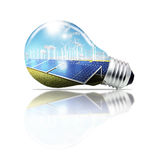 Light bulb ,concept. Light bulb green,concept energy Royalty Free Stock Photos