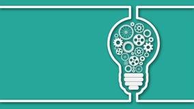 Light bulb concept stock video