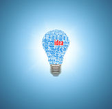 Light bulb with concept of ideas vector illustration