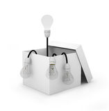 Light bulb concept outside the box Royalty Free Stock Photos