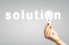 Light bulb, concept solution Royalty Free Stock Images