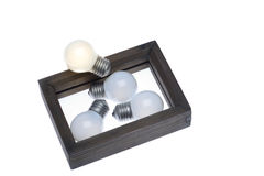 Light bulb concept think outside the box as creative and leaders Stock Photo