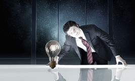 Light bulb concept Stock Photos