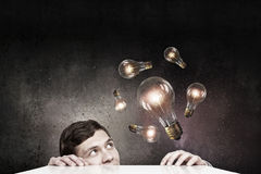 Light bulb concept Stock Photos
