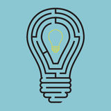 Light bulb conceptual with maze style Royalty Free Stock Photography