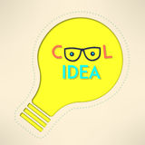 Light bulb cool idea with googles background. Inspirational design. Creativity concept. Vector illustration Royalty Free Stock Photo