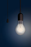 Light Bulb with Cord Switch. 3d Rendering Royalty Free Stock Photos