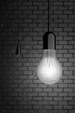 Light Bulb with Cord Switch. 3d Rendering Stock Photography