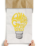 Light bulb crumpled paper in another great idea Stock Images