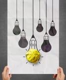 Light bulb crumpled paper Stock Image