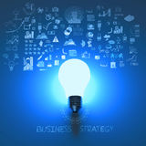 Light bulb 3d on business strategy Royalty Free Stock Images