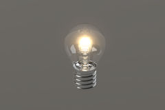 Light Bulb 3D Model / Gray Background Royalty Free Stock Photography