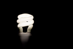 Light bulb. On dark background royalty free stock photography