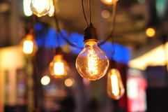 Light bulb decoration Royalty Free Stock Images