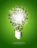 Light bulb design by cogs and gears Royalty Free Stock Photo