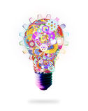 Light bulb design by cogs and gears Stock Photography