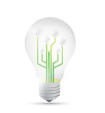 Light bulb diagram illustration design Stock Photo