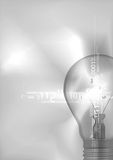 Light bulb with digital numbers. Stock Image