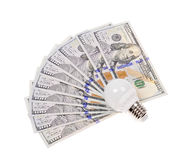 Light bulb and dollar Royalty Free Stock Image