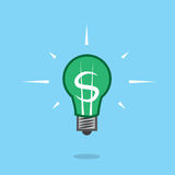 Light Bulb Dollar Sign Float Royalty Free Stock Photography