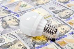 Light bulb and dollar Stock Image