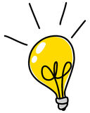 Light bulb doodle Royalty Free Stock Photos