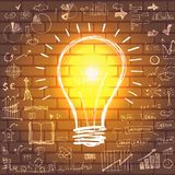 Light bulb with drawing business success strategy Stock Images