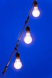 Light bulb at dusk Royalty Free Stock Image