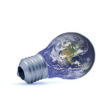 Light bulb of the Earth Stock Images