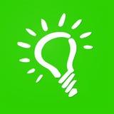Light bulb eco. Simplified shape of a white light bulb Stock Photos
