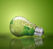 Light bulb, ecological concept Royalty Free Stock Photos