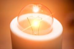 Light Bulb. Electrical Light Bulb on Table Stock Photos