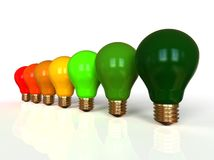 Light bulb energy efficiency concept stock illustration