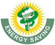 Light bulb energy saving Stock Images