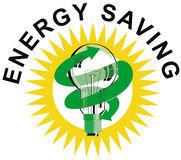 Light Bulb Energy saving symbol Stock Photos