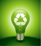 Light bulb environmental concept Stock Photography