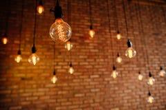 Light bulb filament retro vintage Stock Images