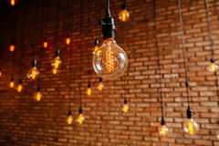 Light bulb filament retro vintage Royalty Free Stock Images