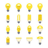 Light bulb flat vector icons Royalty Free Stock Image