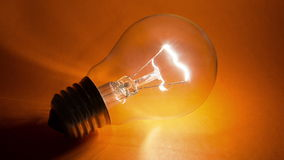 Light bulb flickering stock video